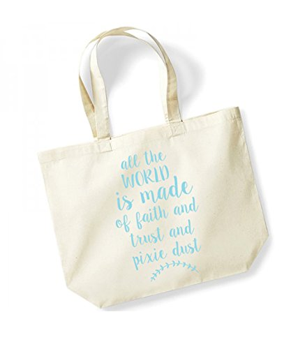 Of The Unisex Made Trust Dust Cotton Print Slogan blue All Pixie Natural World Canvas Tote Is Bag Kelham And Faith 87gqw5x5