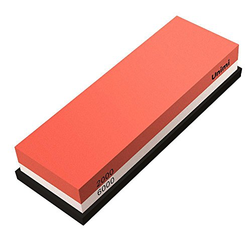 Whetstone Knife Sharpener, Unimi Professional Sharpening Stone 2000/6000 Girt Water Stone For Knives