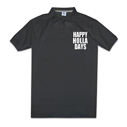 Happy Holla Days Men Polo Style XXL (Happy Halloween History)