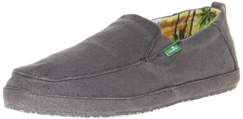Sanuk Mens Seeker Slip-On Loafer Charcoal 4zJEmoizZj