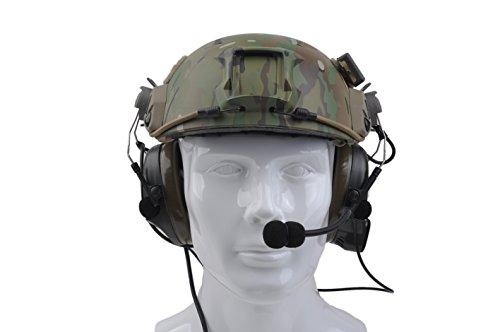 Austin Tactical LLC Z Tactical Headset Airsoft Comtac I Noise Canceling Headphone for FAST Helmets with Peltor Helmet Rail Adapter Set