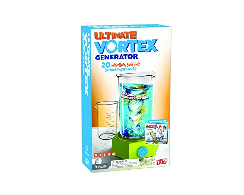 SmartLab Toys Ultimate Vortex Generator - 9 Pieces - 20 Experiments - Includes 24-Page Activity Book & Magnetic Mixing Machine!