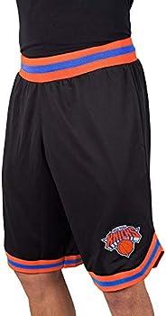 Ultra Game NBA New York Knicks Mens Woven Basketball Shorts, Team Color, Medium