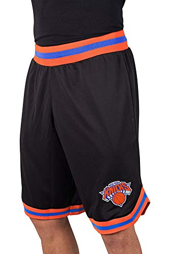 - Ultra Game NBA New York Knicks Men's Mesh Basketball Shorts Woven Active Basic, Medium, Black