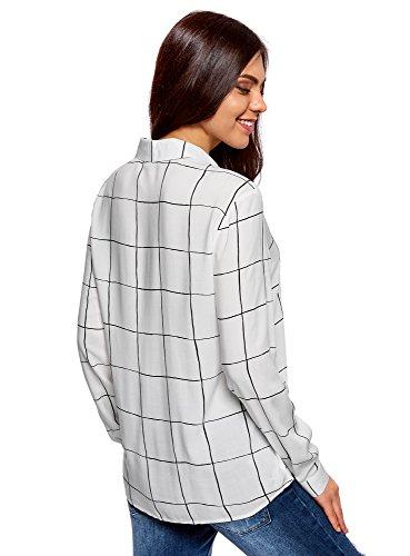 Chemisier Viscose Femme Imprim Blanc 1229c oodji en Ultra wawEf