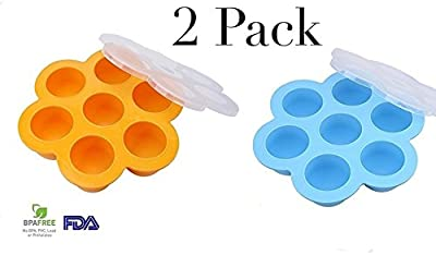 2 Pack Egg Bite Instant Pot pressure cooker accessories 5 6 8 quart silicone food mold with snap on lid FDA approved and BPA free