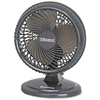 Holmes HAOF87BLZNUC Lil Blizzard 7 Two-Speed Oscillating Personal Table Fan, Plastic, Black