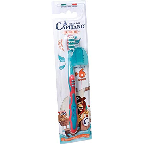 Dottor Ciccarelli Junior Toothbrush +6 Years - Compact Head - Deep Cleans - Removal Of Food Residues - Ergonomic Handle - For Kids - Oral Care - Italy