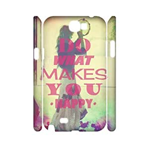 Custom New Case for Samsung Galaxy Note 2 N7100 3D, Happy Life Phone Case - HL-503660