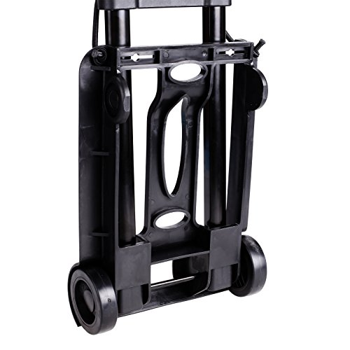 Kaluo Folding Hand Truck 90 Lbs Capacity 4 Wheels Portable Dolly Cart Hand Trolley For Luggage ,Traveling, Shopping, Moving and Office Use by Kaluo (Image #3)