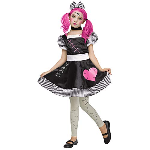 Fun World Broken Doll Child, Multicolor, Small