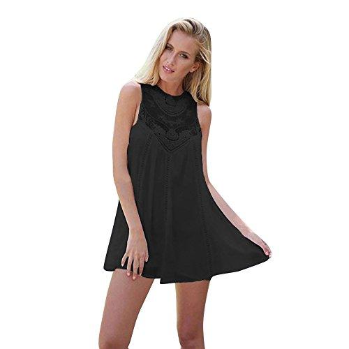Traspirante Estate Pizzo In Sexy Dress Naturalmente Rilassato Pieghe mini pi Mini Donna Minigonna Elegante Paolian A Sexy Vestito E Chiffon cAS5R34jLq