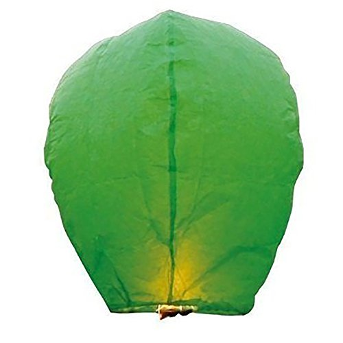 50 Green Paper Chinese Sky Floating Lanterns Wishing Flying Candle Lamps by Commercial Bargains