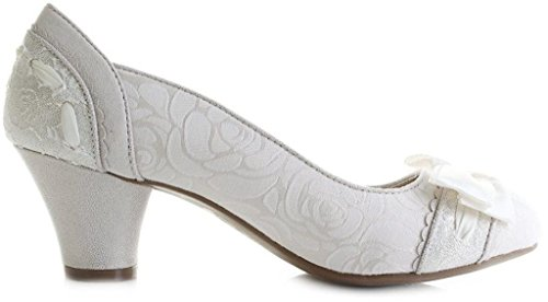 Ruby Shoo Women's Hayley Court Shoe Pumps Cream EaKAL6iai