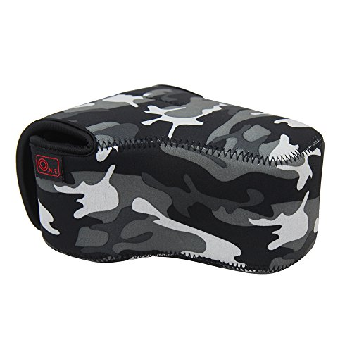 O.N.E OC-5A Camouflage Neoprene Camera Case Bag for Canon 600D 650D 550D 500D 450D 400D 1100D 1000D Olympus E420 E520 E510 E400 Pentax K-30 Panosonic Sony With 18-55MM lens (Case Camera Camouflage)