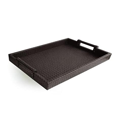 Wonderful Amazon.com | American Atelier Leather Serving Tray with Handles  ZM43