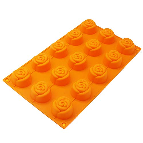 (X-Haibei Rose Flower Soap Mold Chocolate Cake Jello Bath Bomb Pan Silicone Guest Soap Mold Supplies )