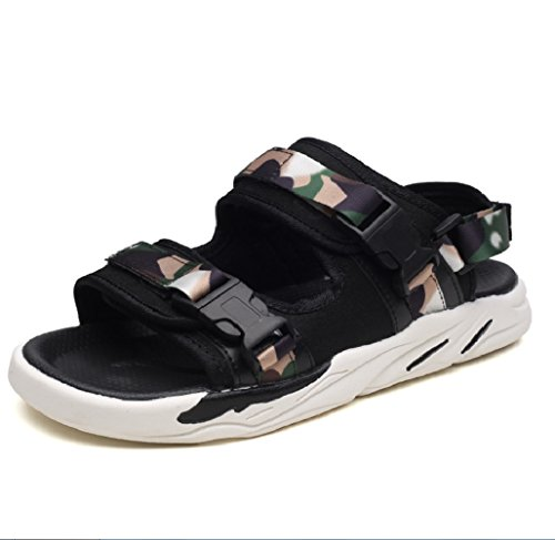 デンプシーベルトポーズメンズスポーツアウトドアサンダルビーチシューズメンズサンダル2つの摩耗厚いソリッドベルクロファッションShoesZHANGM
