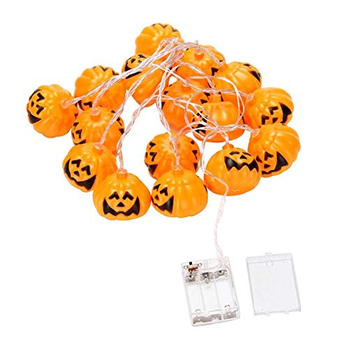 Aibelly Solar Powered Fairy String Lights 11ft Waterproof 10 LEDs Pumpkin Grimace String Lamp for Home, Patio, Garden Gate, Yard, Wedding, Holiday, Party, Halloween, Christmas Decoration