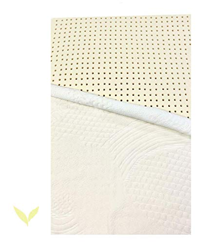 OrganicTextiles 100% Natural Latex Mattress Topper King Size, Soft Firm 2