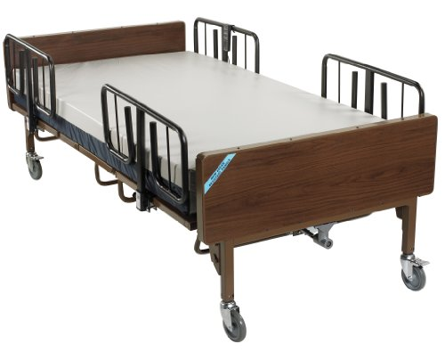 15300BV-PKG - Full Electric Bariatric Hospital Bed with Mattress and 1 Set of T ()