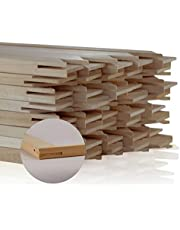 """Wooden Stretcher Bars/Stretching Strips, 5"""" to 72"""" in Length and 3/4"""" in Height : Art Canvas Frames, DIY - 38"""" 1Pair/2Pcs"""