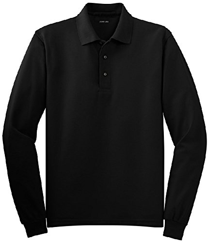 Joe's USA tm - Mens Large Tall Long Sleeve Polo Shirts in 36 Colors