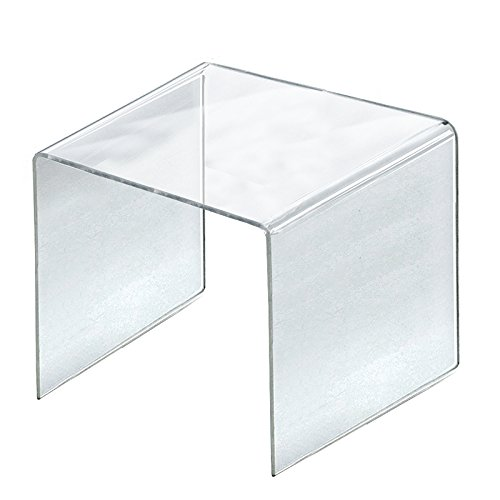 Count of 4 New Retail Clear Acrylic Riser Square Display 11.5''W x 11.5''H x11.5''D