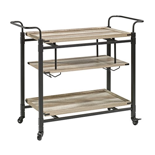 - Better Homes and Gardens Crossmill Bar Cart, Weathered Finish