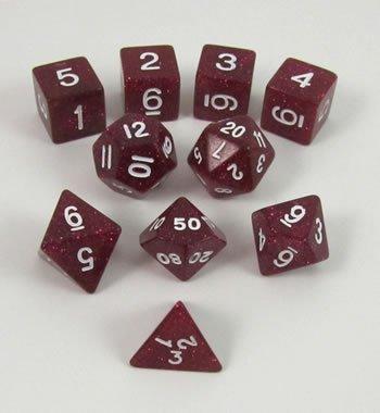 【新品本物】 Purple Glitter Polyhedral Polyhedral Dice Set Tube in 10pc Set in Tube B003DWR9J2, SDSダイレクトショップ:9deccda5 --- cliente.opweb0005.servidorwebfacil.com