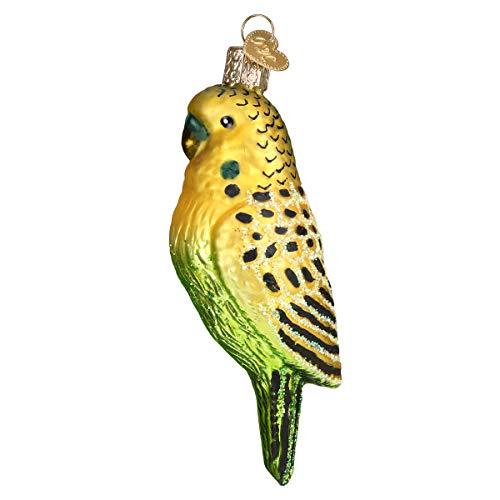 Old World Christmas Hanging Tree Ornament, Miniature Parakeet (Bird Seed Christmas Ornaments)