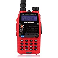 Baofeng UV-5RA Ham Two Way Radio 136-174/400-480 MHz Dual-Band DTMF CTCSS DCS FM 5W Amateur WalkieTalkie Transceiver *Red*
