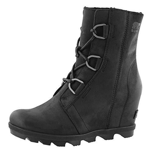 Sorel Women's Joan of Arctic Wedge II Waterproof Casual Boot Black 8 Medium US