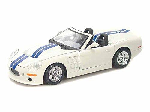 1999 Shelby Series 1 1/24 Weiß w/Blau Stripes