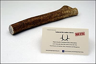 JimHodgesDogTraining - Grade A Premium Quality Elk Antlers for Dogs - Long Lasting Natural Alternative to Chew Toys, Bully Sticks, Bones, Jerky Treats, Rawhides - Made in USA - All Sizes Whole & Split