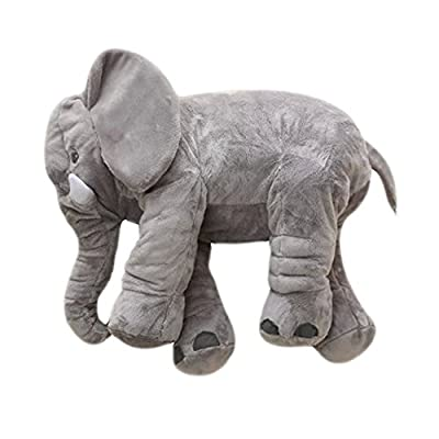 MorisMos Elephant Stuffed Animal Toy Plush Toy for Children Kids Grey 24 inch (60x45x25cm) from MorisMos