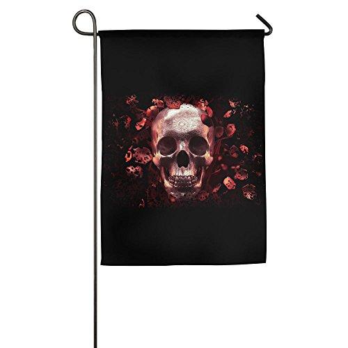 Skull & Roses Live Screenshot Garden Flag Polyester Decorative House Banner For Party Yard Home (Spinner Banner)