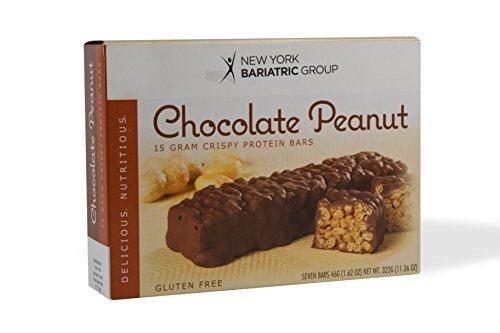 New York Bariatric Group Protein Bars (7 Bars) - Chocolate Peanut Crispy Protein Bar