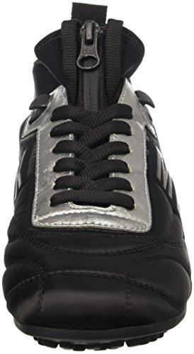 para Nylon Low con Soccer Mujer Shoe W Bikkembergs 773 Plataforma Steel Black Nero Steel Lycra Sandalias qU1Ac