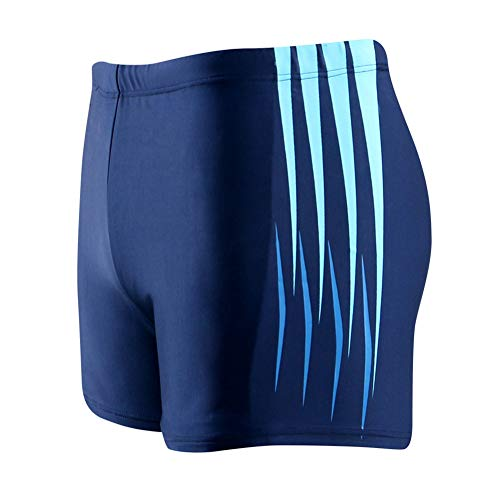 3ee8b3401b7a AIEOE Men s Leg Swim Shorts Workout Swimming Briefs Breathable Square  Swimsuit Comfortable Training Jammer Sport Fitness Swim Shorts Blue