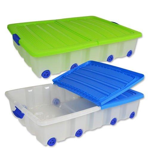 Unterbettkommode, Aufbewahrungsbox, Ordnungssystem, Unterbettbox, Rollbox, Rollenbox mit 50 Liter Diverse Farben Nicht Wählbar