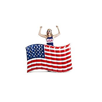 BigMouth Inc Giant Waving American Flag Pool Float, 5 Wide Funny Inflatable Vinyl Summer Pool or Beach Toy, Patch Kit Included