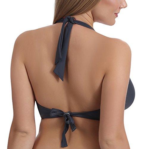 Merry Style Bikini Superior para Mujer Borneo Grafito/Nectarina