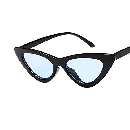 soleil Lens Lunettes Lunettes Black Bright Lunettes Cadeau Saint de Vision Cat Rétro de Triangle With Blue Propre Valentin Eye soleil UV400 Lunettes 1xq75Awg