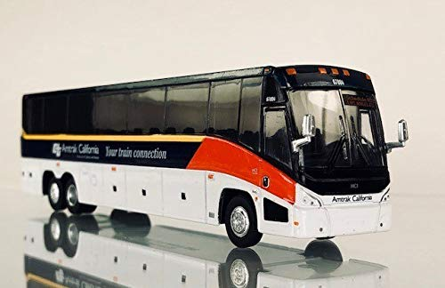 Amtrak California MCI J4500 Diecast model bus 1:87 Scale HO Scale Iconic Replicas
