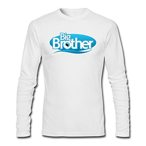 (UNNIK Men's Reality Show Big Brother Long Sleeve T-shirt White XXL)