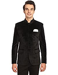 Men's Velvet Grandad Nehru Blazer Coat Jacket