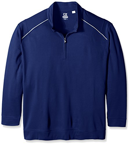 Cutter & Buck Men's Big CB Weathertec Ridge Half-Zip, Tour Blue, Tall/Large by Cutter & Buck (Image #1)