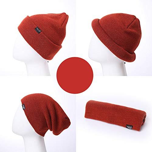 Rexa Térmico El Rojo todo Thinsulate Para Black De Hat Invierno Código Hombre Sombrero negro Heat Thermal Inulated rqn56r