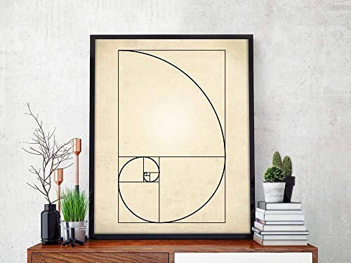 Fibonacci Spiral Art Print, Fibonacci Sequence Print, Mathematics Art, Fibonacci Numbers, Golden Ratio Spiral, Fibonacci Spiral Poster, Math Art